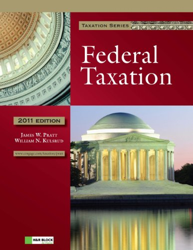9781111221614: 2011 Federal Taxation (with H&R BLOCK At Home(TM) Tax Preparation Software CD-ROM)