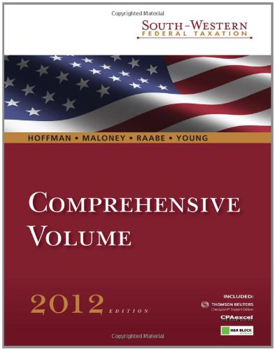 9781111221706: South-Western Federal Taxation 2012: Comprehensive Student edition