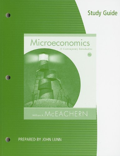 9781111222406: Study Guide for McEachern's Microeconomics