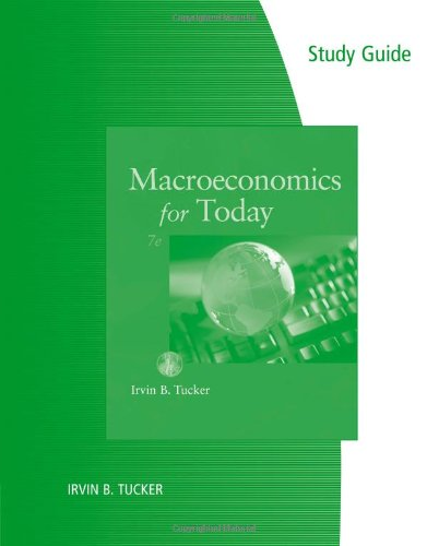 9781111222482: Study Guide for Tucker's Macroeconomics for Today