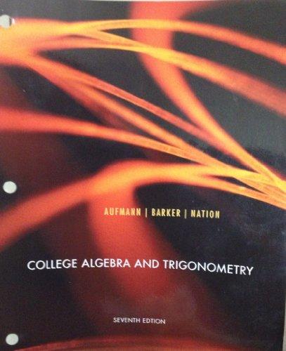 Algebra and trigonometry 7th edition (9780618643219) textbooks. Com.