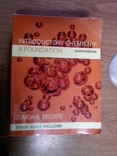 Title: INTRO.CHEMISTRY:FOUNDATION-W/S: Zumdahl/Decoste