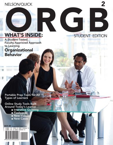 9781111297749: Bundle: ORGB 2 (with Review Cards and Management CourseMate with eBook Printed Access Card), 2nd + WebTutor™ on Blackboard 1-Semester Printed Access Card