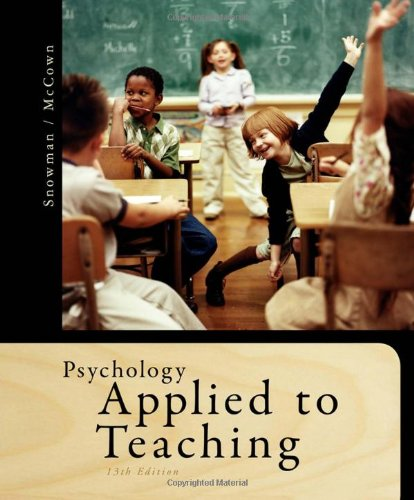 9781111298111: Psychology Applied to Teaching