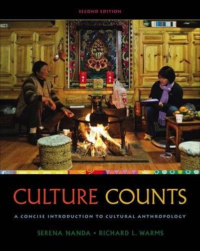 Culture Counts : A Concise Introduction to: Nanda, Serena; Warms,