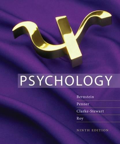 9781111301569: Study Guide for Bernstein/Penner/Clarke-Stewart/Roy's Psychology, 9th