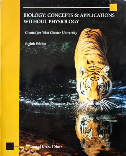 Biology concepts and applications 9th edition starr solutions manual.