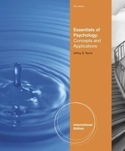 9781111305475: Essentials of Psychology: Concepts and Applications, International Edition