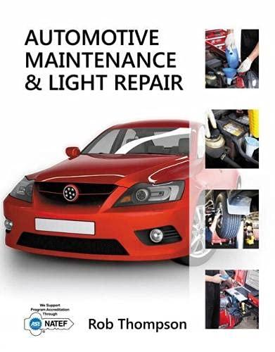 9781111307424: Workbook for Thompson's Automotive Maintenance & Light Repair