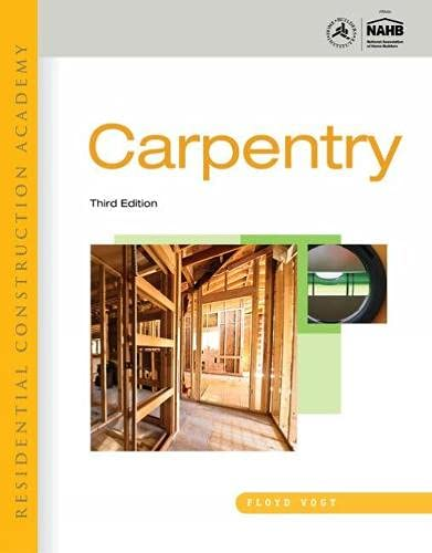 9781111308292: Workbook for Vogt's Residential Construction Academy: Carpentry