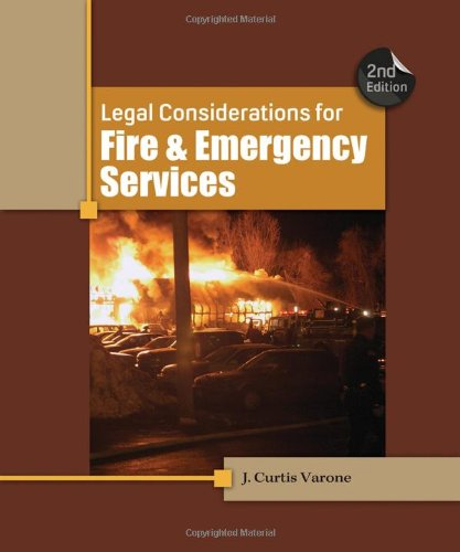 9781111308803: Legal Considerations for Fire and Emergency Services