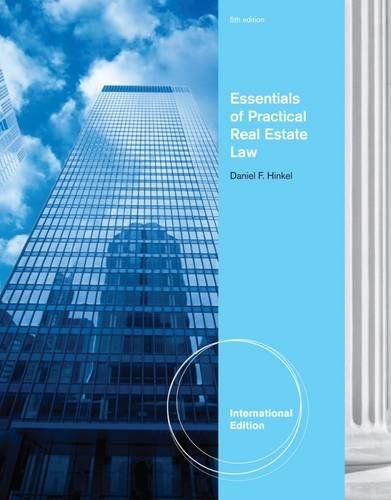 9781111309060: Essentials of Practical Real Estate Law