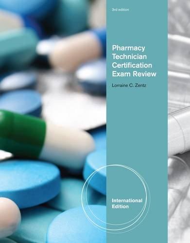 9781111311391: Pharmacy Technician Certification Exam Review