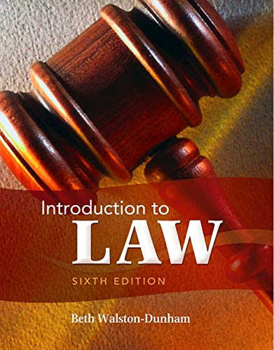9781111311896: Introduction to Law, 6th Edition