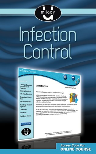 9781111318284: Printed Access Card for Milady U Professional Development: Infection Control
