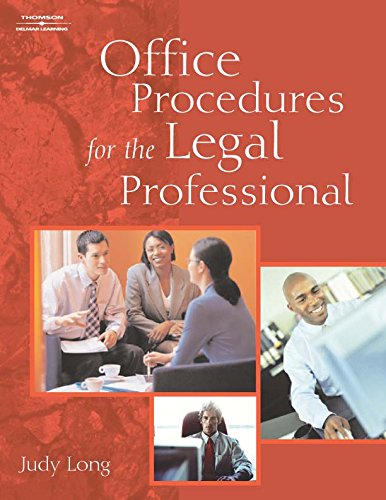 9781111319090: Office Procedures for the Legal Professional (Book Only)