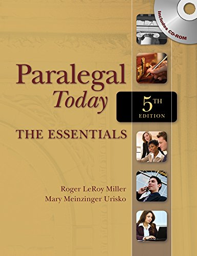 9781111319106: Paralegal Today: The Essentials (Book Only)