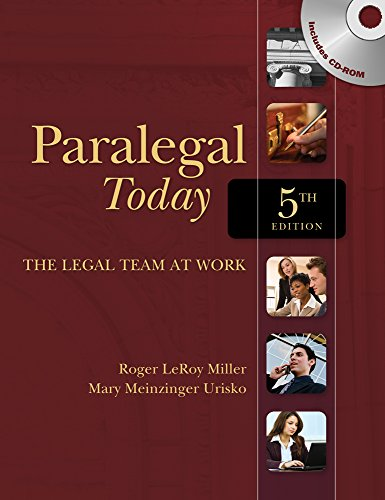 9781111319113: Paralegal Today: The Legal Team at Work