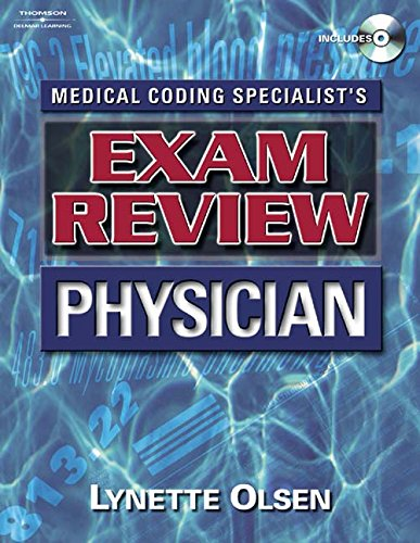 9781111320706: Medical Coding Specialist's Exam Review Physician (Book Only)