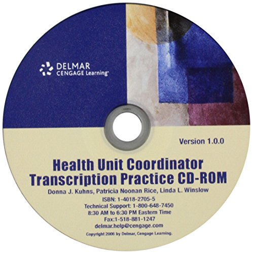 Cd for Kuhns/Rice/winslow's Health Unit Coordinator: Kuhns, Donna J./