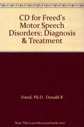 9781111322670: CD for Freed's Motor Speech Disorders: Diagnosis & Treatment