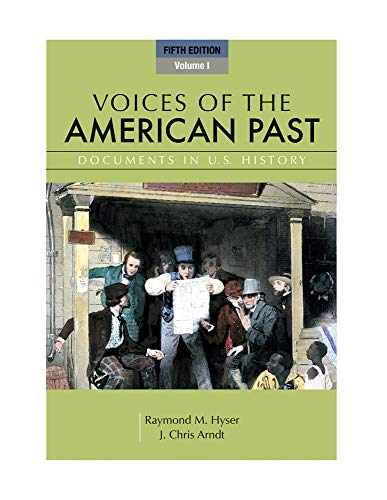 9781111341244: 1: Voices of the American Past, Volume I