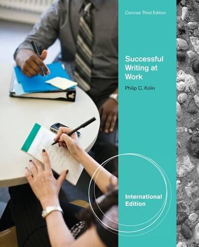 Successful Writing at Work (International Edition): Prof Philip;Kolin Kolin