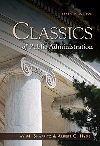 9781111342746: Classics of Public Administration