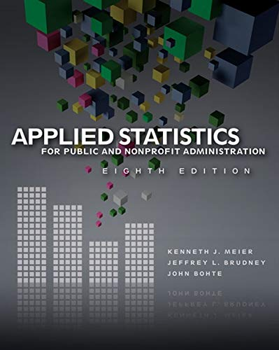 9781111342807: Applied Statistics for Public and Nonprofit Administration
