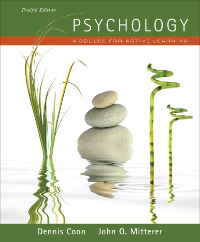 9781111342869: Psychology: Modules for Active Learning (with Concept Modules with Note-Taking and Practice Exams Booklet)