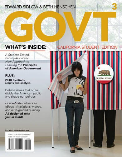 9781111343071: GOVT3, California Edition (with Political Science CourseMate with eBook Printed Access Card)