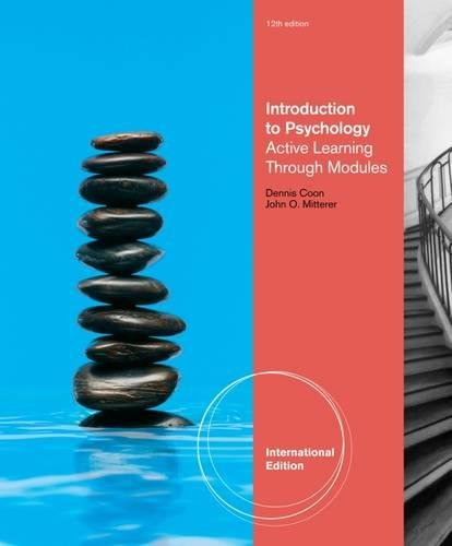 9781111343590: Introduction to Psychology: Active Learning through Modules, International Edition (with Concept Modules with Note-Taking and Practice Exams Tearout Cards)