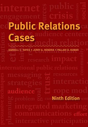 9781111344429: Public Relations Cases