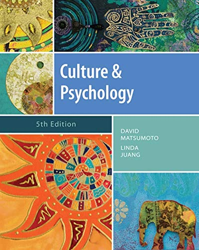 9781111344931: Culture and Psychology (Psy 399 Introduction to Multicultural Psychology)