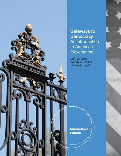 9781111345129: Gateways to Democracy: Introduction to American Government (International Edition)