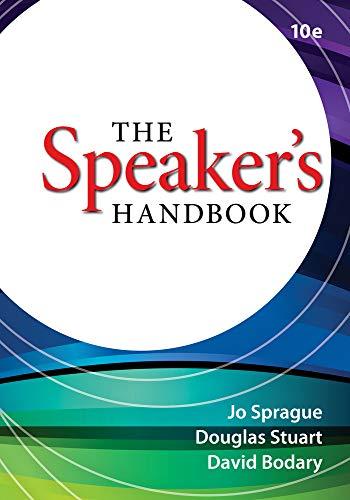 The Speaker's Handbook: Sprague, Jo; Stuart,