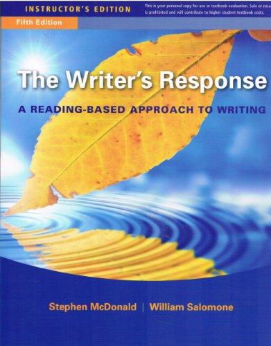 9781111349202: Ie Writers Response 5e