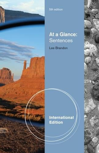 9781111349332: At a Glance: Sentences, International Edition