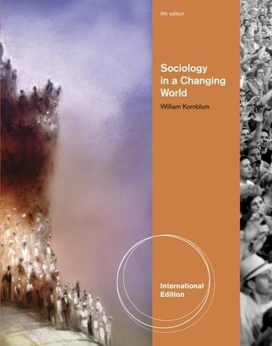 9781111350215: Sociology in a Changing World