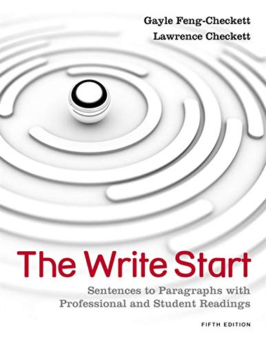 9781111350277: The Write Start: Sentences to Paragraphs with Professional and Student Readings