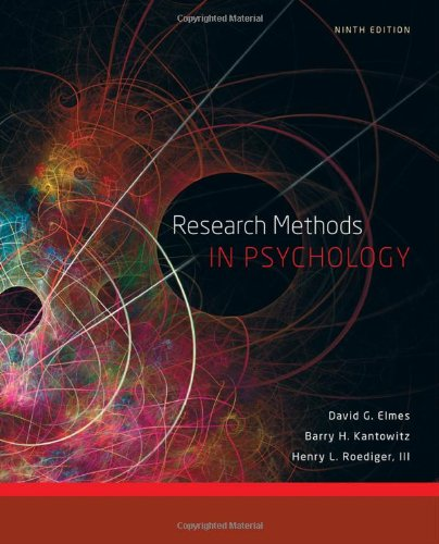 9781111350741: Research Methods in Psychology