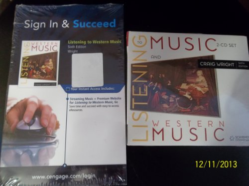 Listening to Music- 2 CD's and Access: Wright