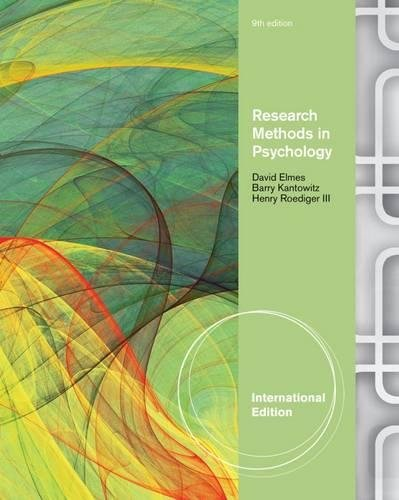 9781111351533: Research Methods In Psychology 9Th Edition