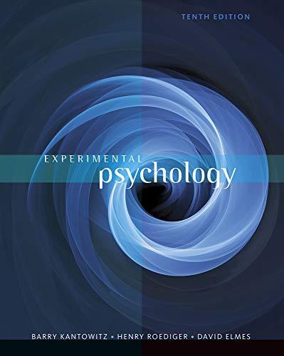 9781111357993: Experimental Psychology