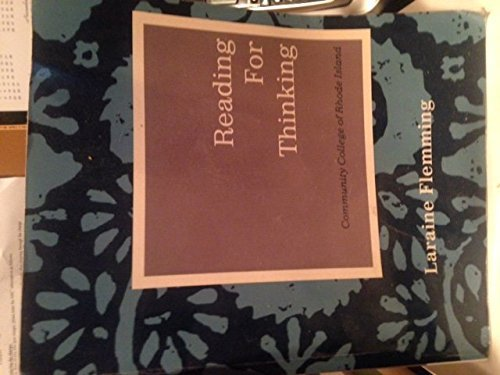 9781111401764: Reading for Thinking: Community College of Rhode Island