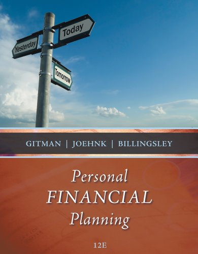 Bundle: Personal Financial Planning, 12th + Finance Central Printed Access Card (9781111415938) by Lawrence J. Gitman; Michael D. Joehnk; Randy Billingsley