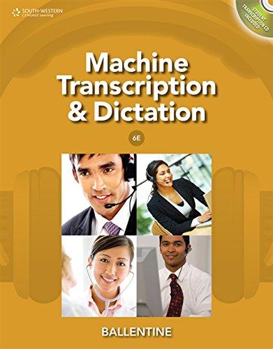 Machine Transcription & Dictation (with CD-ROM): Ballentine, Mitsy