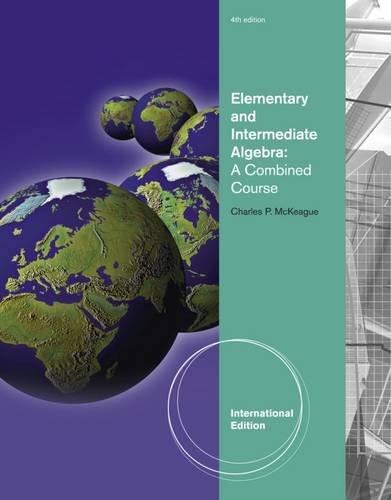 9781111427856: Student Workbook for McKeague's Elementary and Intermediate Algebra [Paperback] [2011] 4 Ed. Charles P. McKeague
