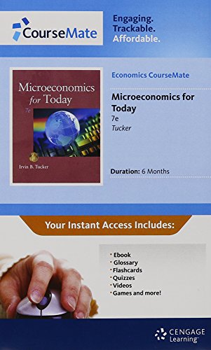 Economics CourseMate with eBook Printed Access Card for Tucker's Microeconomics for Today, 7th (1111430136) by Irvin B. Tucker