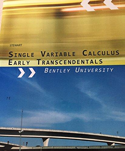 9781111465902: Calculus of a Single Variable Early Transcendental Functions (Bentley University Custom) (Bentley University Custom Edition)